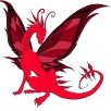 Butterfly Red Dragon