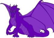 Wise Purple Dragon