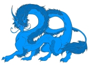 Noble Blue Dragon